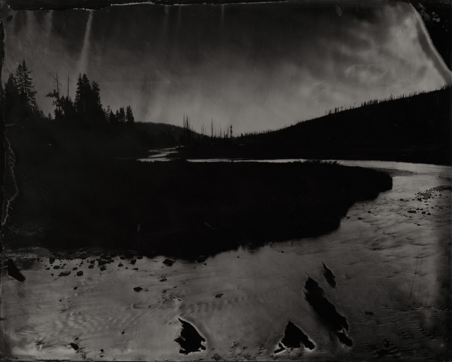 Lewis River #1 (Yellowstone) , 2016  Pigment print on Baryta paper (Diasec mounted, no frame)  42 x 52.5 inches  Edition 1 of 5
