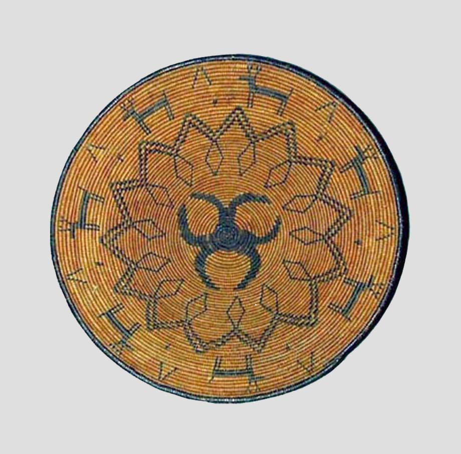 Chiricahua Apache pictorial basket
