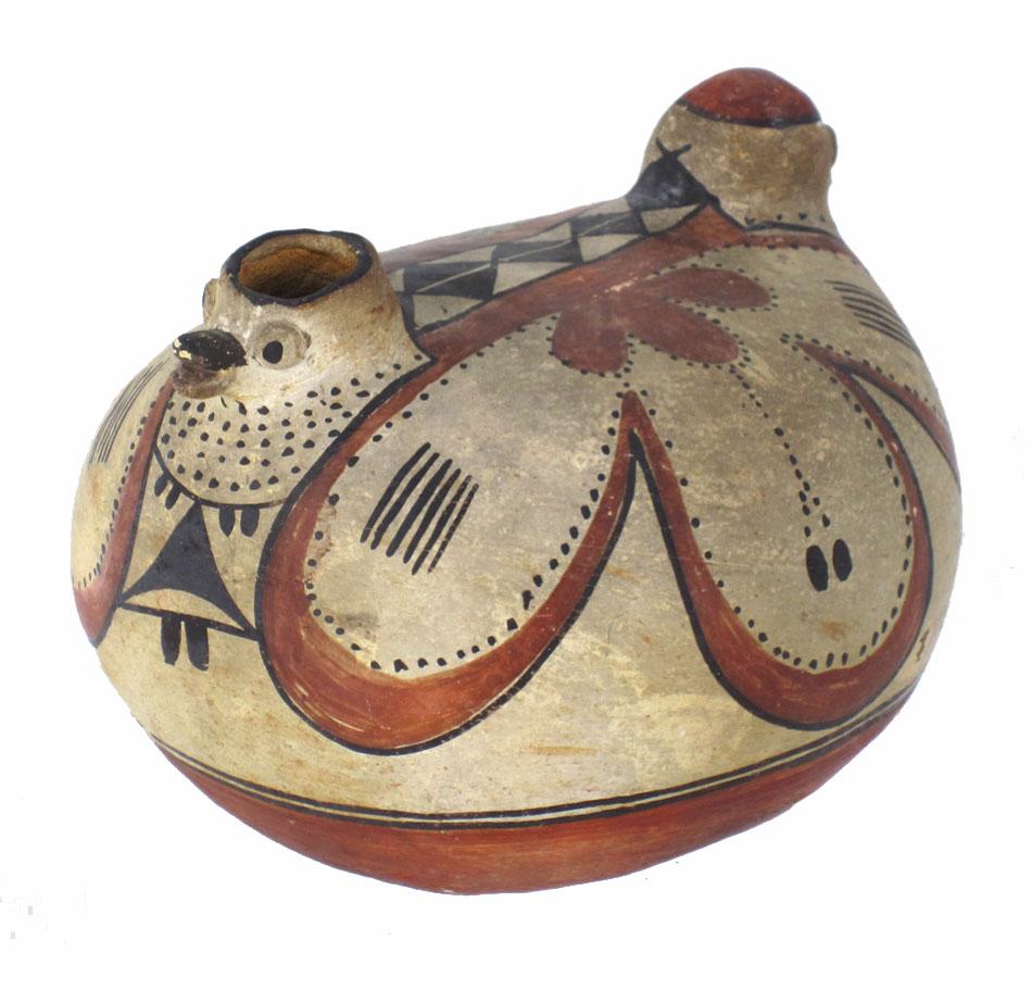 Acoma/Laguna double-bird vessel, circa 1870-1880. http://www.marcyburns.com/pottery-collection/hh55fzrshg95dwpd9gdgwhhzbhi3o0