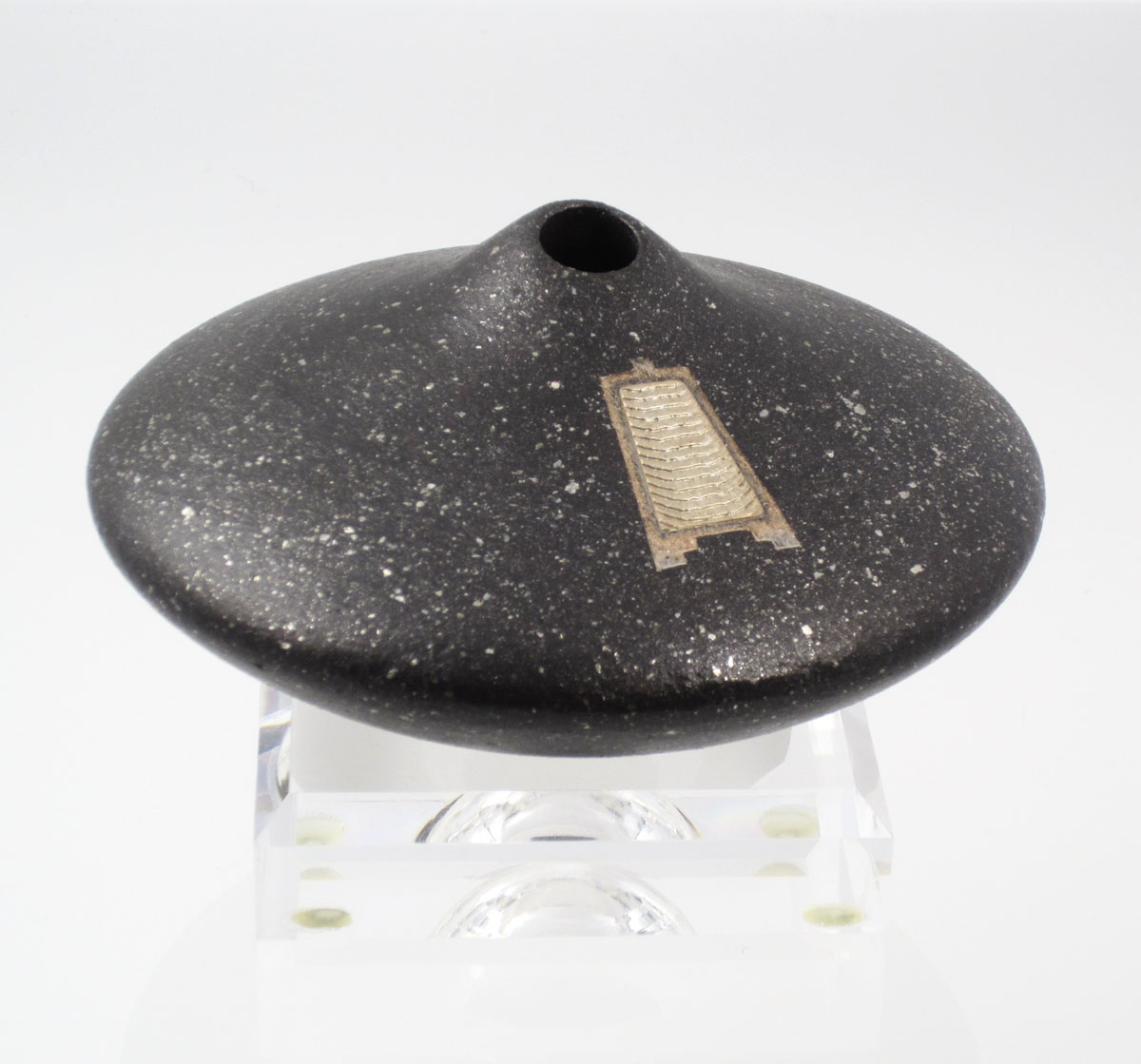 "Miniature pot from the ""Shifting Sand Series"" by Preston Duwyenie (2000)"