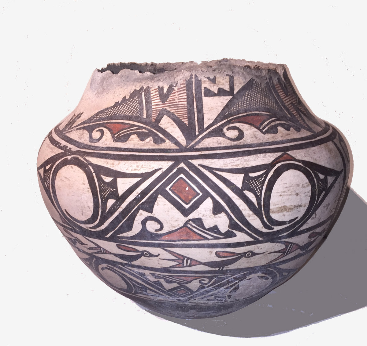 http://www.marcyburns.com/pottery-collection/historic-zuni-polychrome-jar