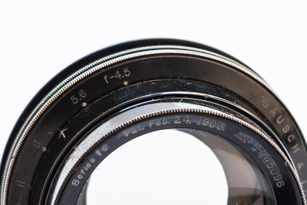 Bausch & Lomb - Zeiss Tessar lens, wide open at f/4.5. Photo: Ian Tuttle