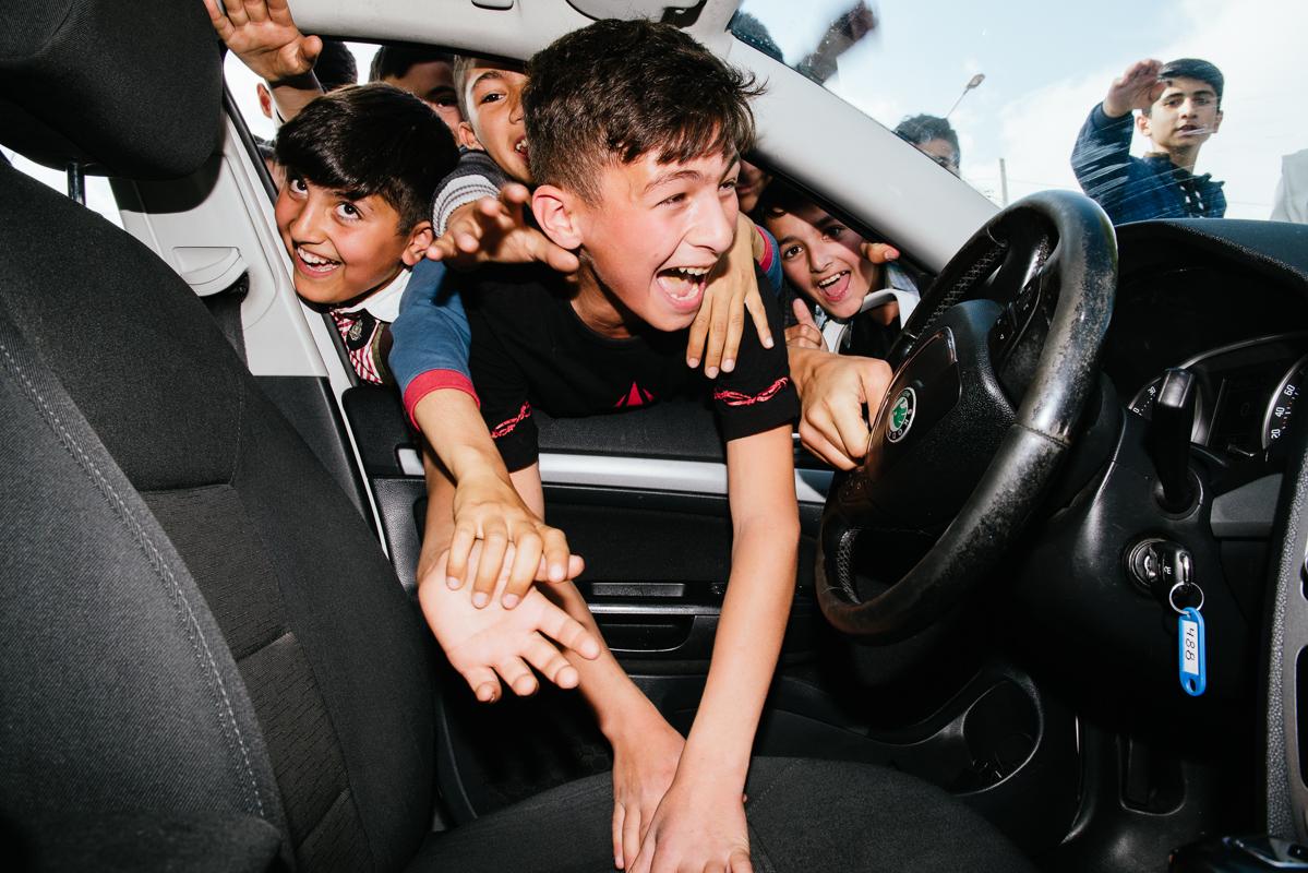 Race fans in Ismailli, Azerbaijan, 2017. ©Ian Tuttle