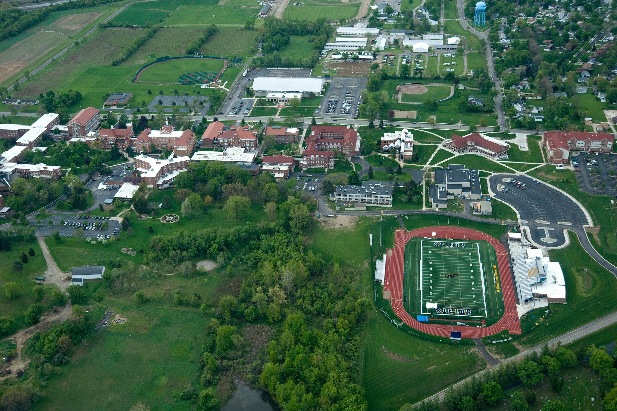 Arial View of Siena Heights University
