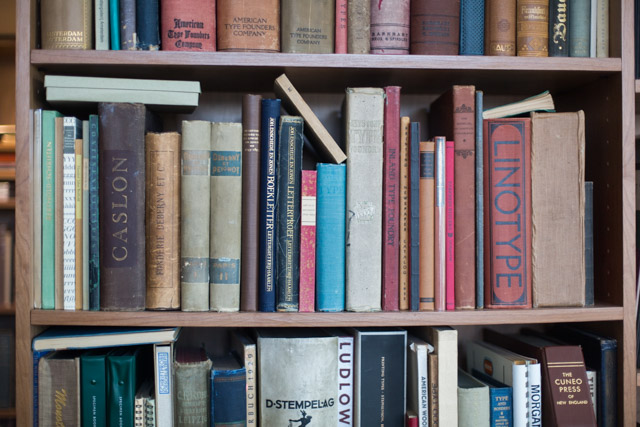 Type specimen books at the Letterform Archive.