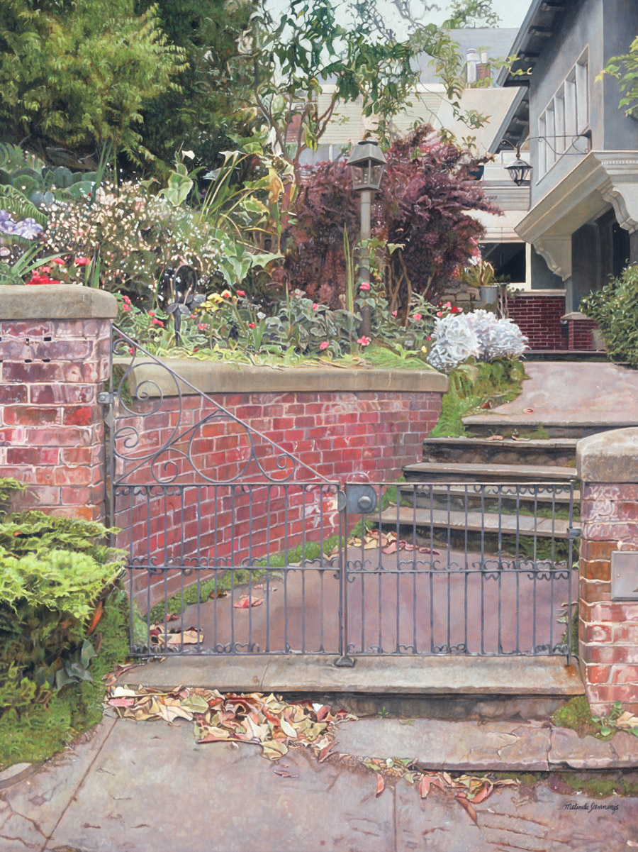 Red Bricks and Fallen Leaves
