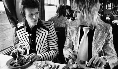 David Bowie and Iggy Pop.