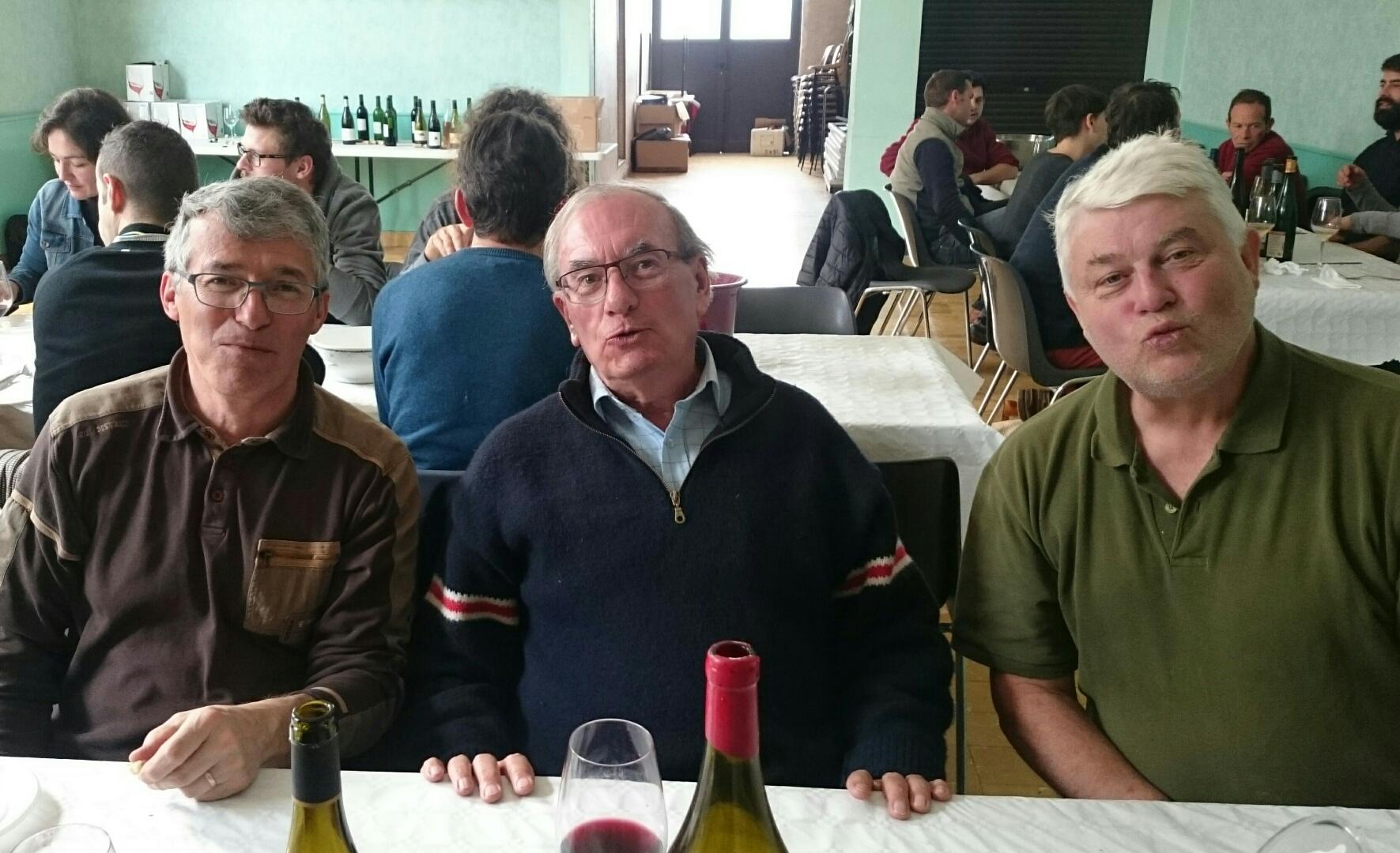 Robert Casenove (consultant vigne),Anthony Martin (amateur),Luc Charlier (la Coume Majou)