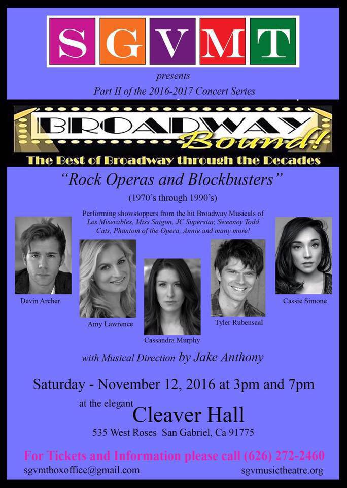 Poster for Rock Operas and Blockbusters