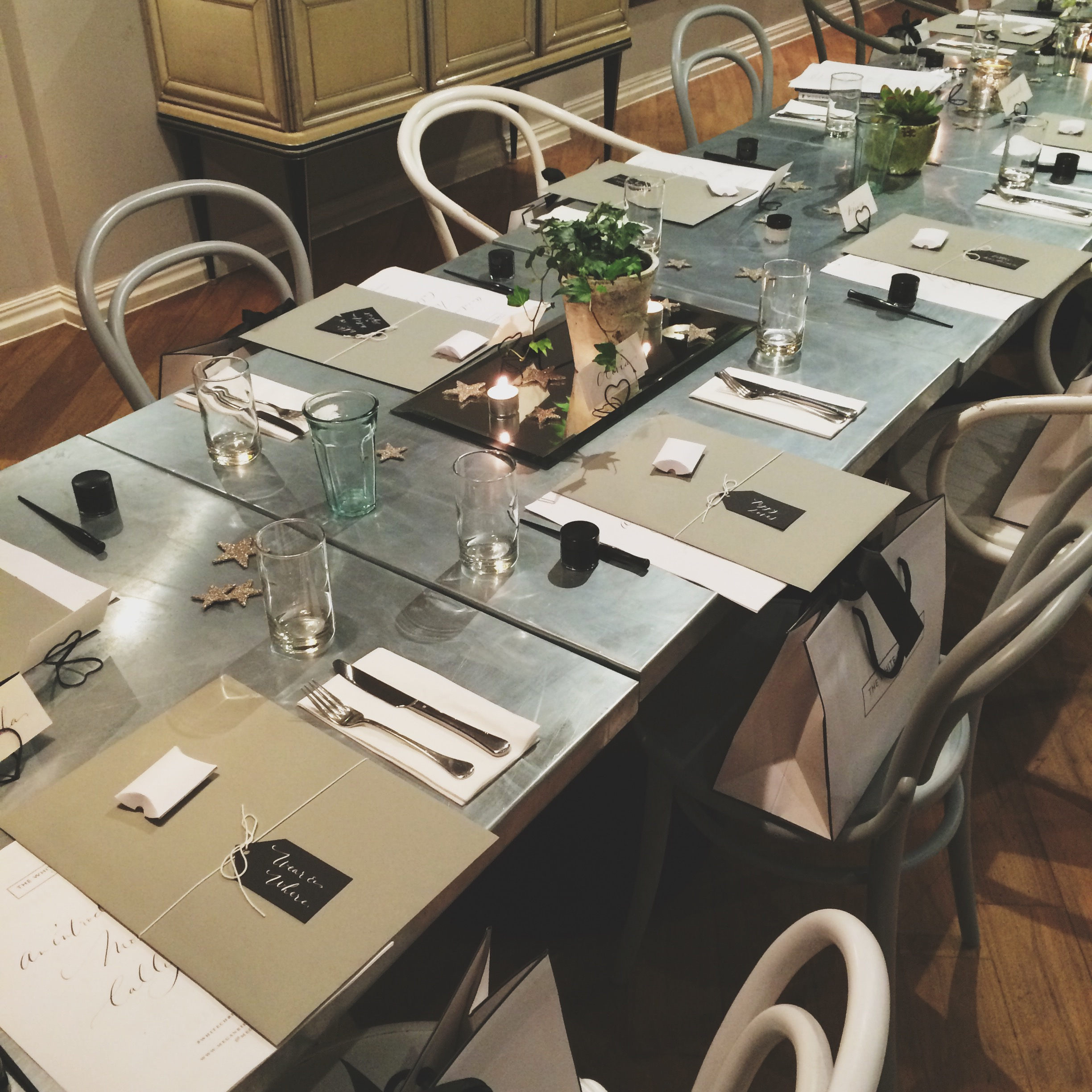 Bloggers calligraphy workshop for The White Company