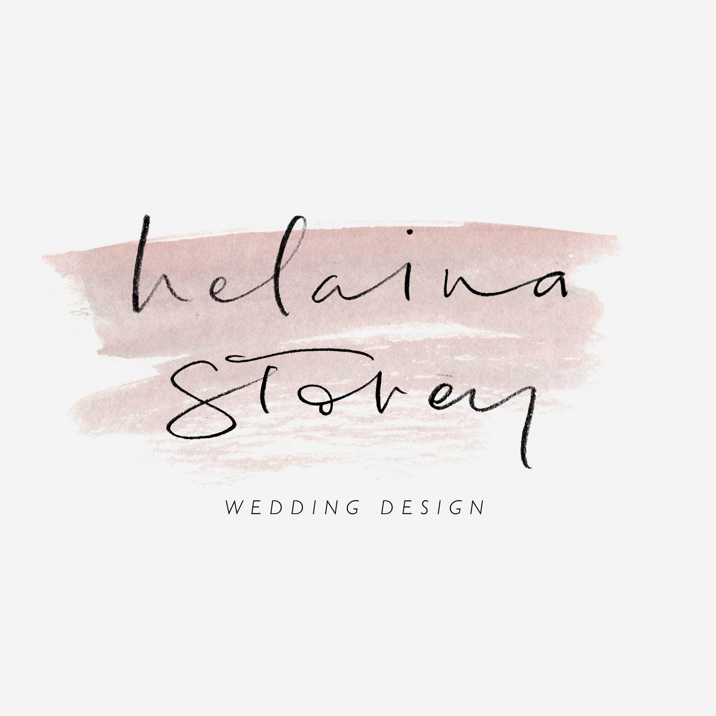 Brand identity for wedding designer, Helaina Storey
