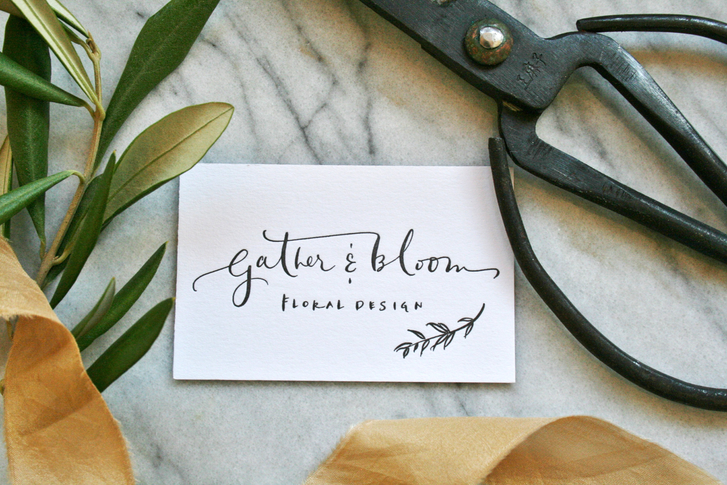 Logo for florists, Gather & Bloom