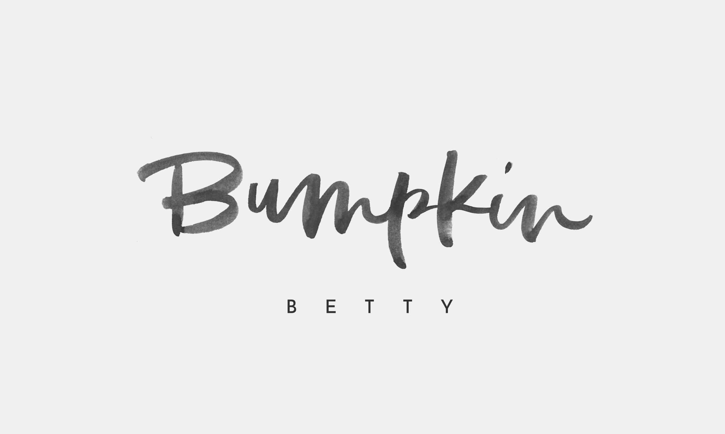 Logo for lifestyle blog, Bumpkin Betty