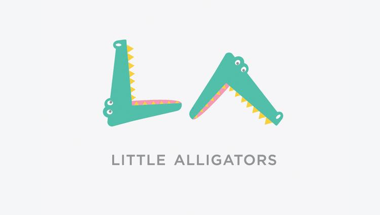 Identity for children's boutique, Little Alligators