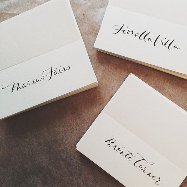 Placecards for B&B Italia event