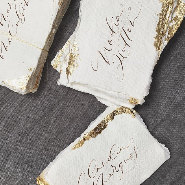 I got through the whole first season of The Handmaid's Tale (amazing and terrifying!)while gold leafing these place cards for a Lake Como wedding. Gold leaf is incredibly 'daffy' and gets everywhere. I even noticed some on my husband's forehead as he left to work yesterday 😂