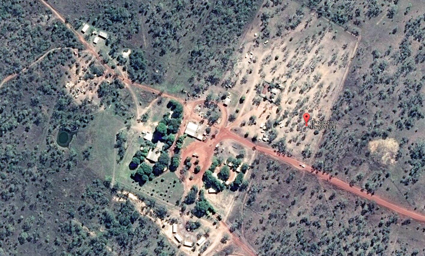 The 2014 Off Centre Rally location, from the safety of Google Maps and Spot Tracker.