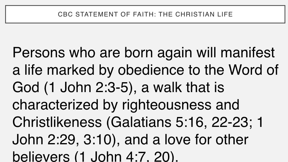 Sermon #42. CBC. 7.1.18 PM. Doctrinal Statement. The Christian Life. proj.005.jpeg