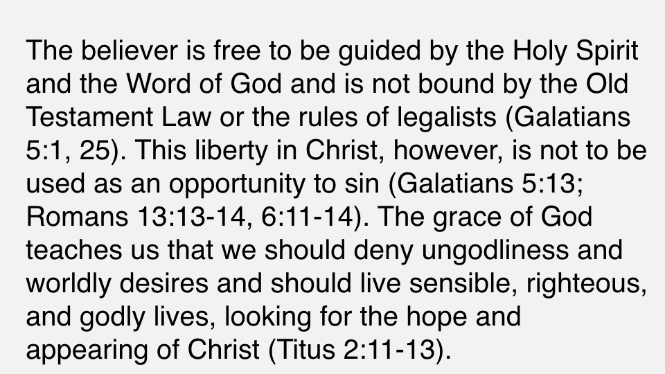 Sermon #42. CBC. 7.1.18 PM. Doctrinal Statement. The Christian Life. proj.006.jpeg