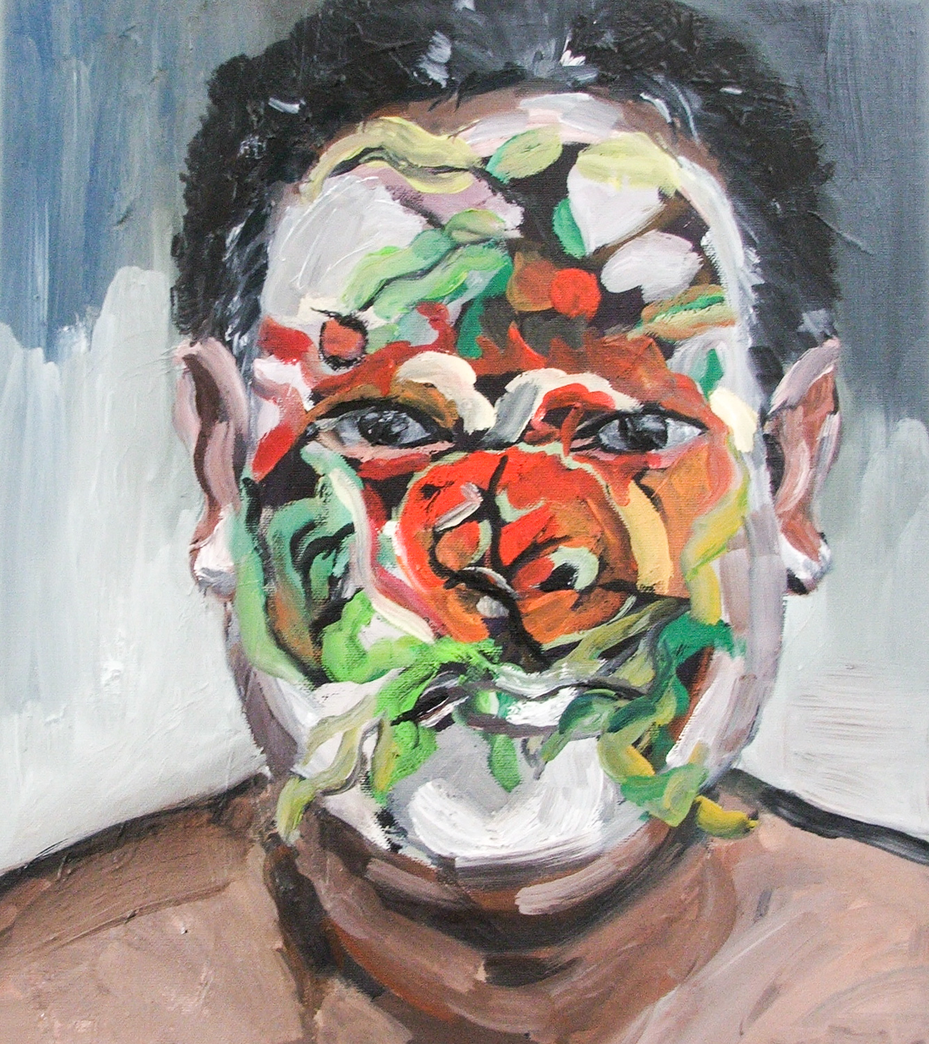 A Painted Man, Oil on canvas, 40X35 cm, 2010