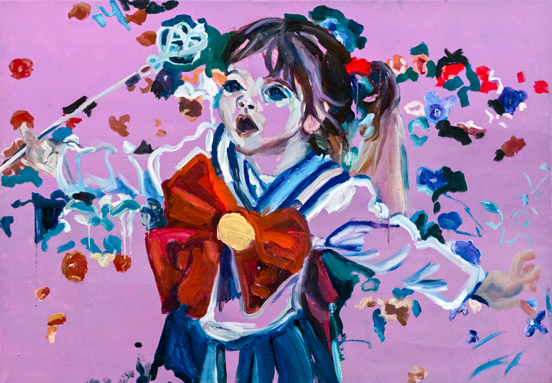 Purple girl, Oil on canvas, 70X100 cm, 2012