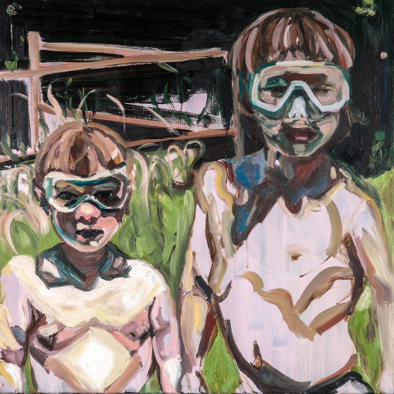 Calvin and Ezra, Oil on canvas, 80X80 cm, 2012