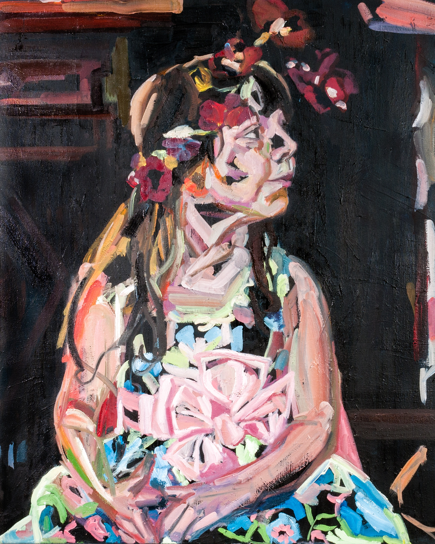 Black Abigail, Oil on canvas, 100X80 cm, 2012