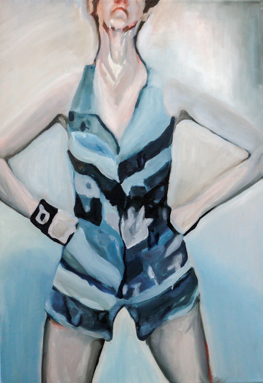 Hedwig in blue, Oil on canvas, 100X70 cm, 2009
