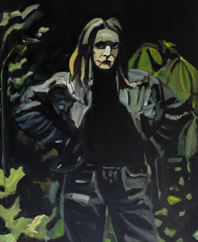 Sarah Lucas, Oil on canvas, 100X80 cm, 2009