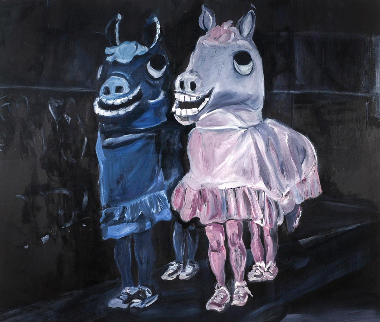 Wild horses, Oil on canvas, 100X120 cm, 2008
