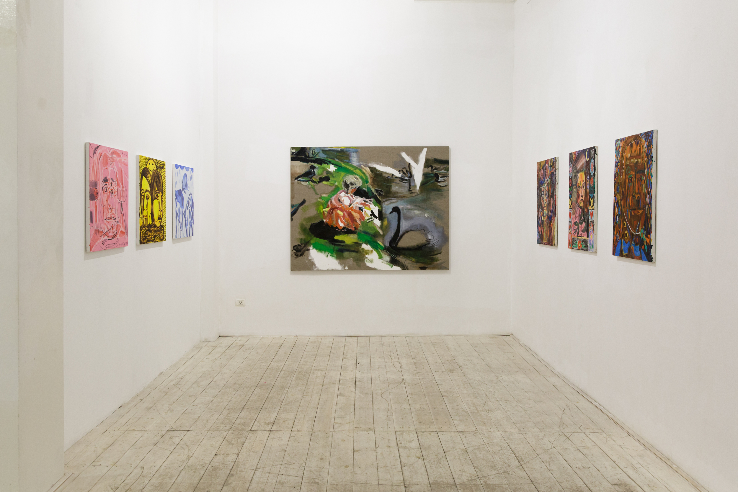 How to avoid mistakes, Alfred gallery, Tel Aviv, 2014, a dual exhibition with the painter Galia Pasternak.