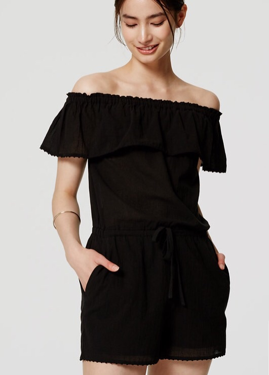 I wore this  Off The Shoulder Romper  just this past week and got 100 compliments!! It was sold out but JUST RESTOCKED!!