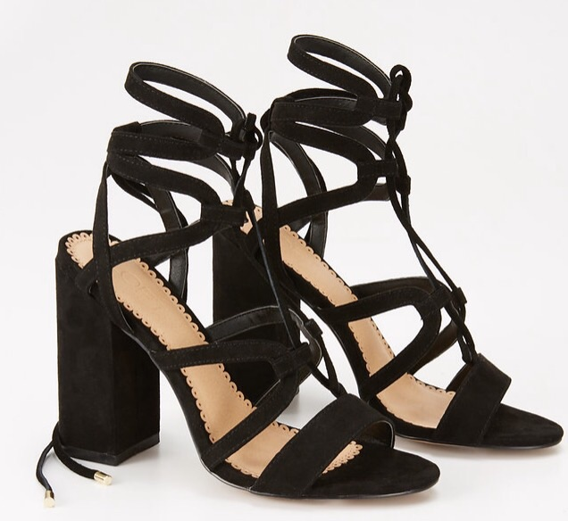 Lace Up Heel    This style shoe has been all the rage this season! I ordered this in a blush color a while back and they are not only adorable but very easy to chase a three year old in 😉.