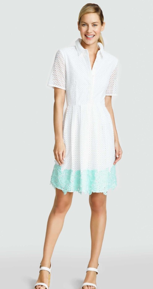 The Eyelet Shirt dress