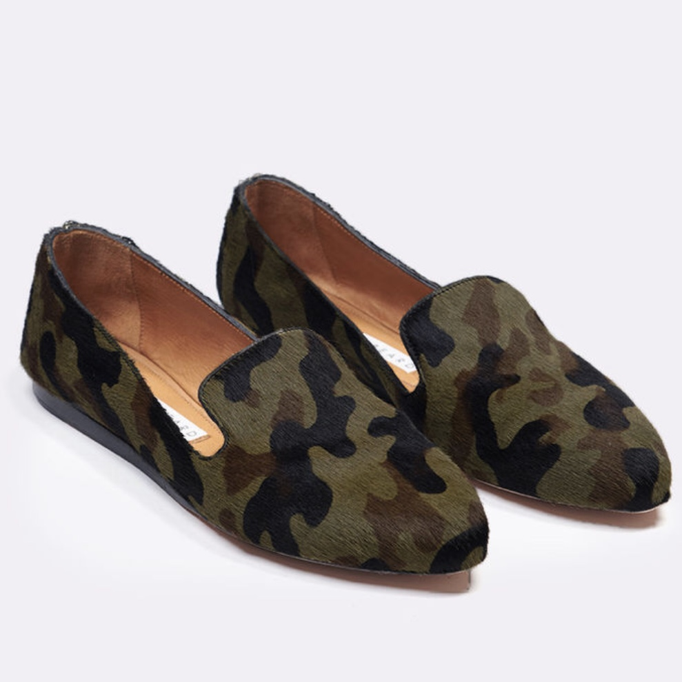 Veronica Beard Griffin Loafer in Camo