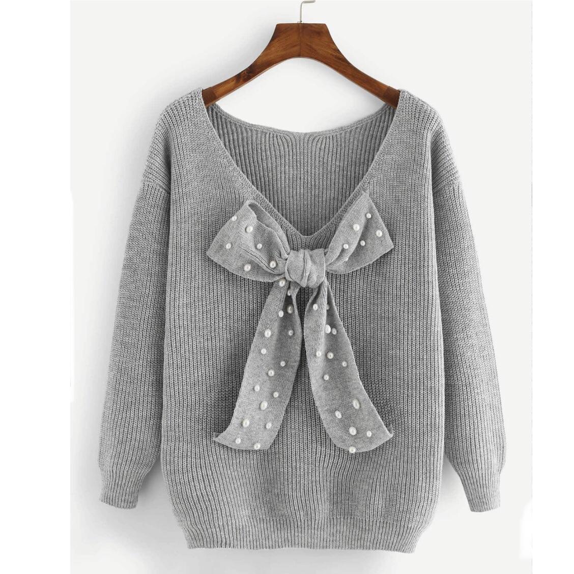 Shein Bow Sweater