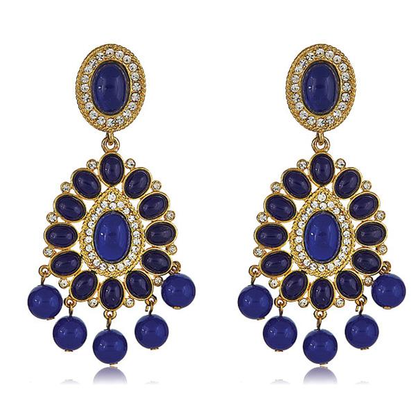 Kenneth Jay Lane Lapis Blue Chandelier Earrings