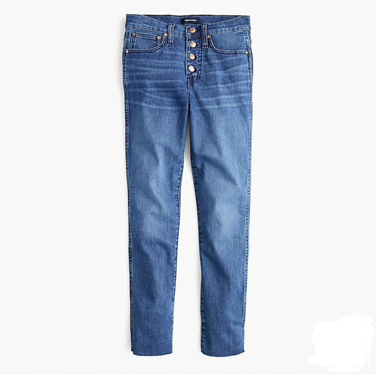 J. Crew Petite Vintage Straight Eco Jean With Button Fly
