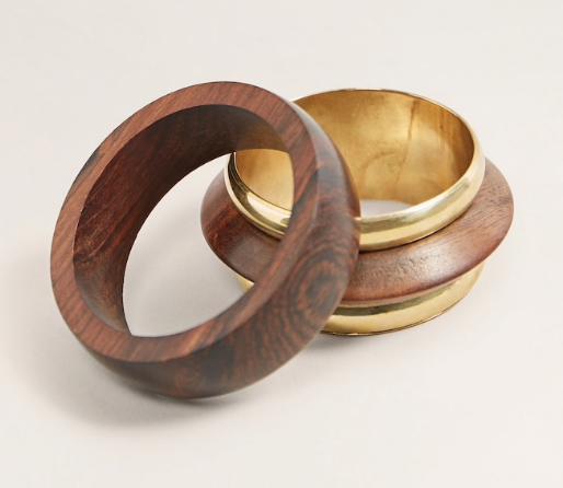 Mango Two-Pack Wooden Bracelets