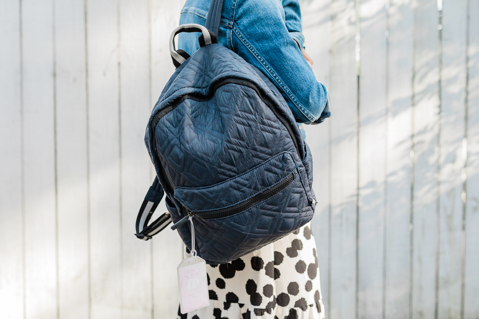 The Departure Backpack in Marina.
