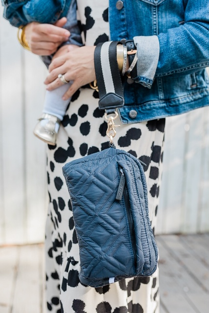 I love that The Stowaway can be pulled out and used as a wristlet or clutch.