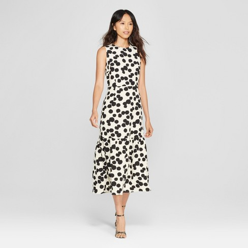 Target Who What Wear Polka Dot Midi Dress