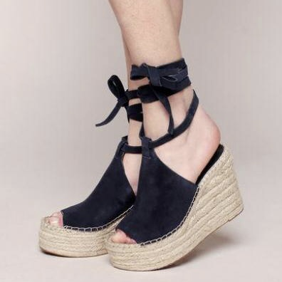 Sigerson Morrison Audora Leg-Wrap Espadrille Sandal