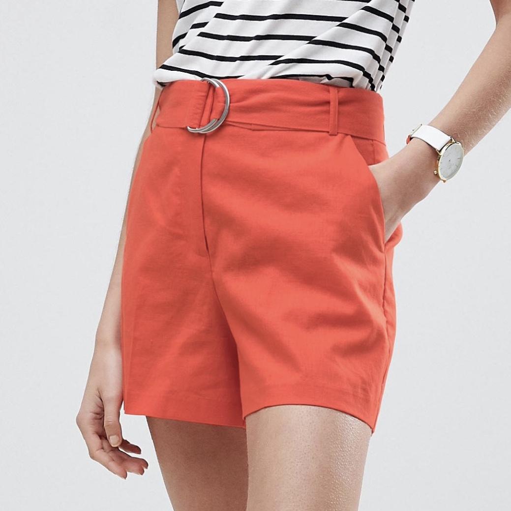 ASOS Tailored D-Ring Linen Shorts