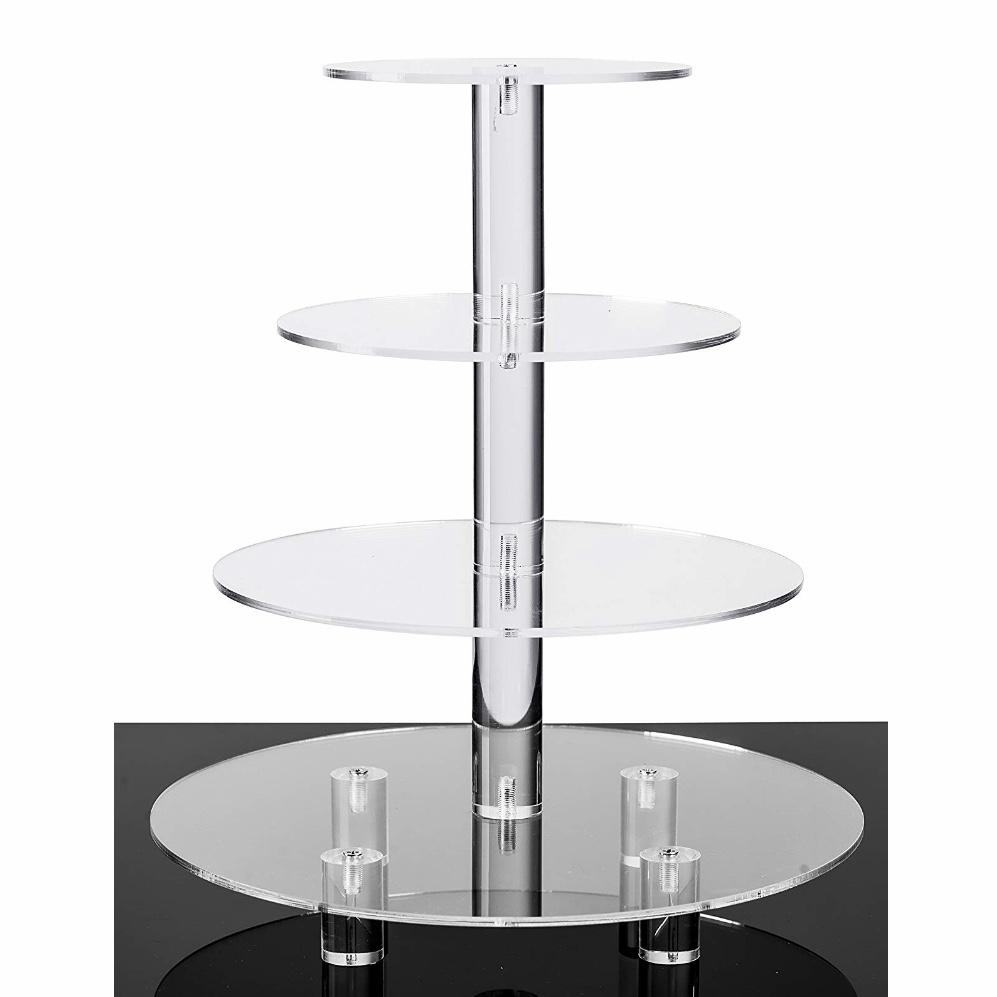 4 Tier Acrylic Glass Cupcake Stand