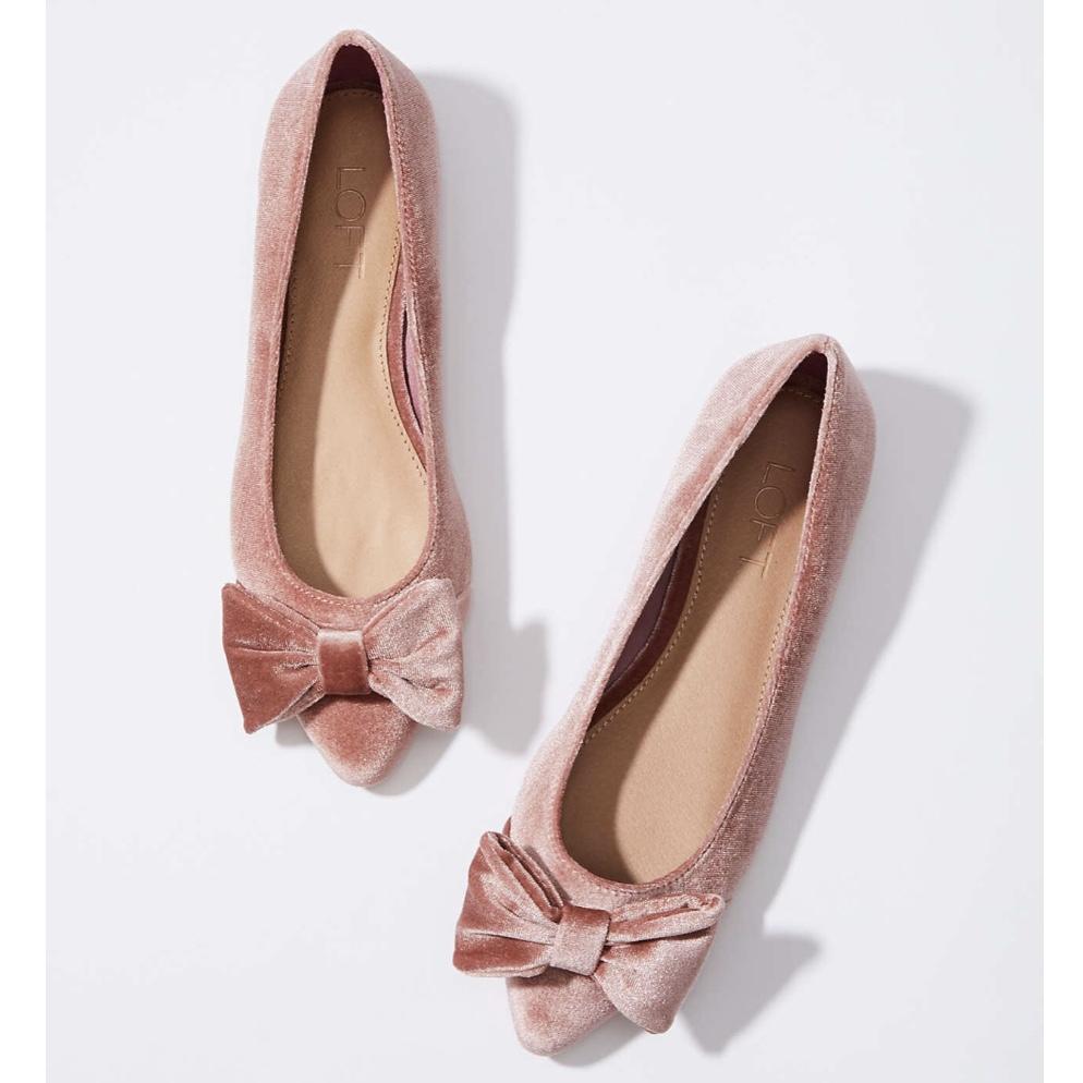 Loft Velvet Bow Ballet Flat