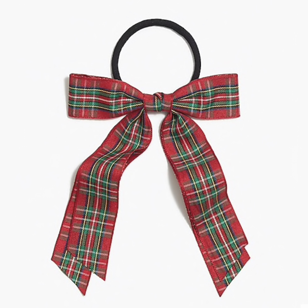 J. Crew Factory Tartan Bow Hair Tie