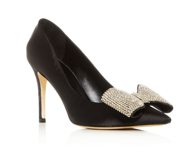 Kate Spade Viena Embellished Bow Pointed-Toe Pumps