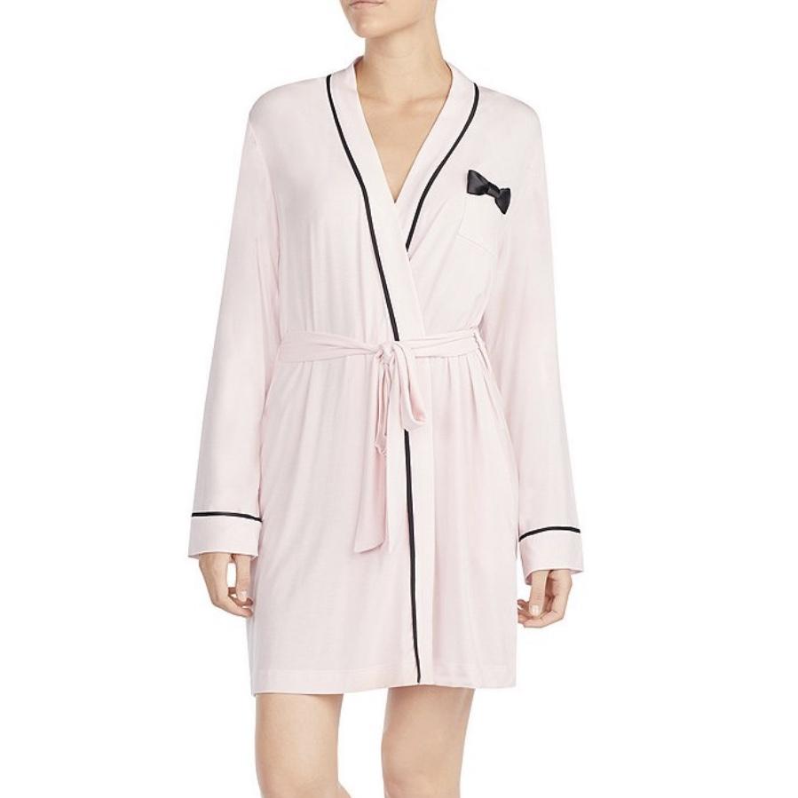 Kate Spade Bow-Applique Wrap Robe