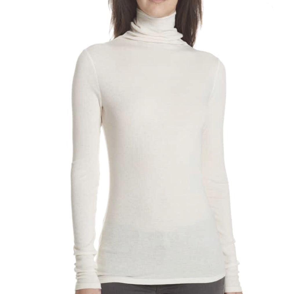 Theory Ribbed Cotton and Cashmere Turtleneck